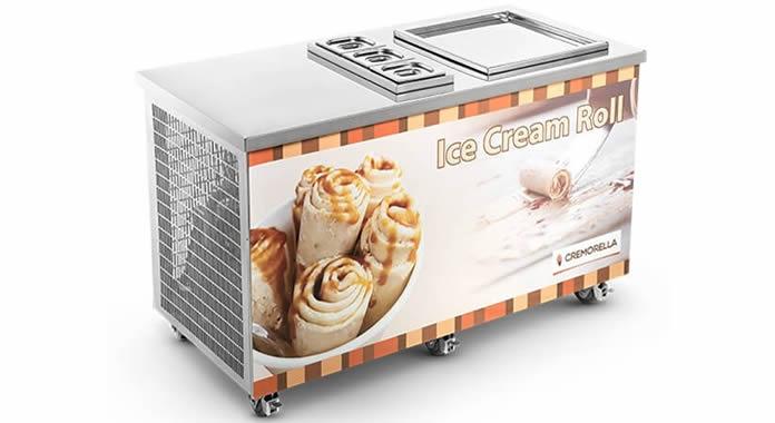 Máquinas de fazer sorvetes na chapa